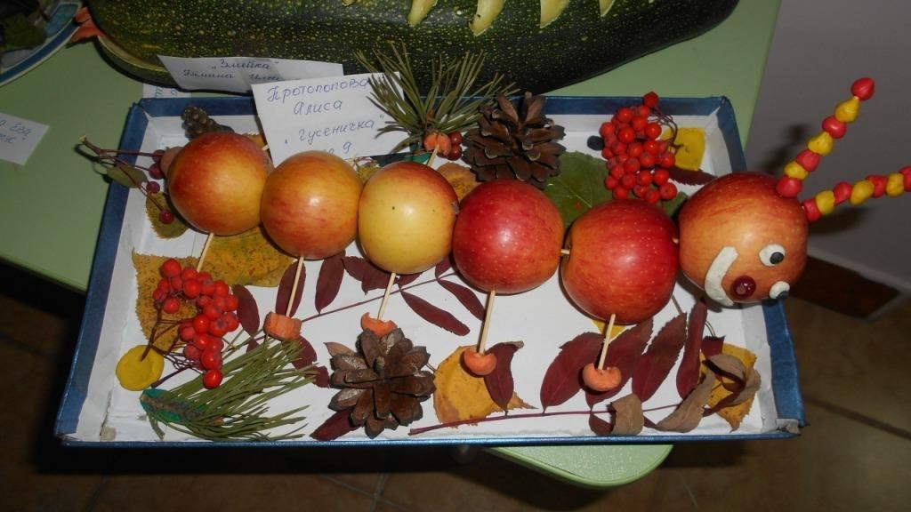 Поделка осень в садик из овощей 48